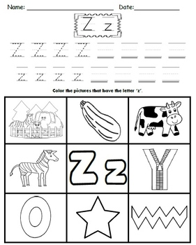 Simple Color-in Alphabet Sounds Worksheets!