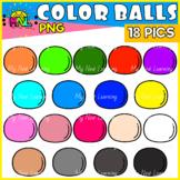 Simple Colorful Balls Clip Art Set