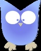 Simple Colorful Owl Clipart