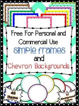 -FREE- Simple Rectangular and Circular Frames and Chevron Backgrounds