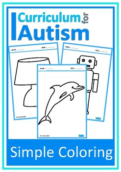 Simple Coloring Pictures Autism Fine Motor