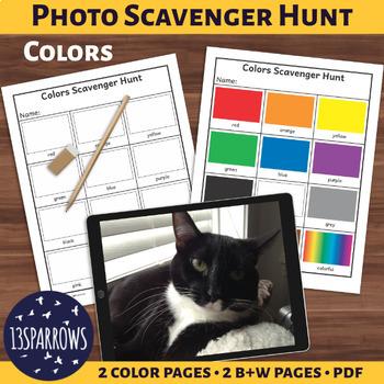 Simple Photo Scavenger Hunt: Colors