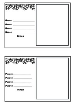 Simple Colour Poems A book to make & illustrate for Lower Primary Language Task