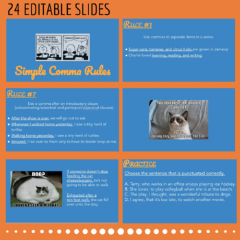 Simple Comma Rules PPT