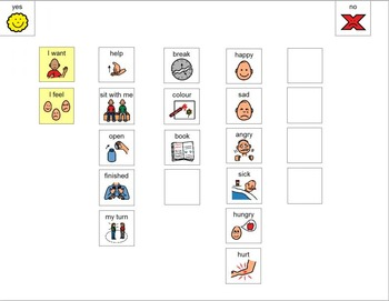 Simple Communication Board (Boardmaker PDF)