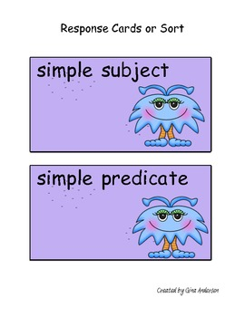 Simple Complete Subjects and Predicates