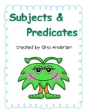 Simple Complete Subjects and Predicates (editable)