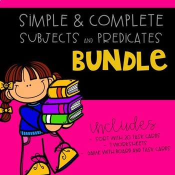 Simple & Complete Subjects and Predicates Bundle