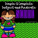 Simple & Complete Subjects and Predicates Scoot