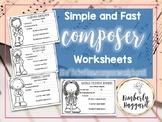 Simple Composer Worksheets BUNDLE