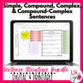 Simple, Compound, Complex, & Compound-Complex Sentences Bundle
