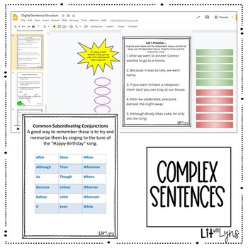 Simple, Compound, Complex, & Compound-Complex Sentences- EDITABLE Power Point