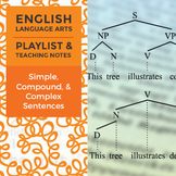 Simple, Compound, & Complex Sentences - Playlist and Teaching Notes