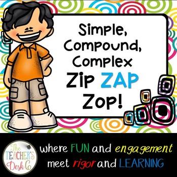 Simple, Compound, Complex Sentence ZAP!