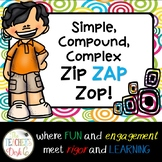 Simple, Compound, Complex Sentence ZAP!