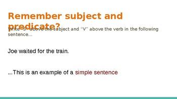Simple, Compound, Complex Sentences