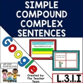 Simple Compound & Complex Sentences | Google Classroom | D