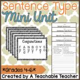 Simple, Compound, & Complex Sentences {Mini Posters & Practice Worksheets}