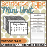 Simple, Compound, & Complex Sentences {Mini Posters & Prac