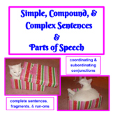 Simple, Compound, & Complex Sentences & Parts of Speech