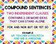 Simple, Compound, & Complex Sentences Poster Freebie
