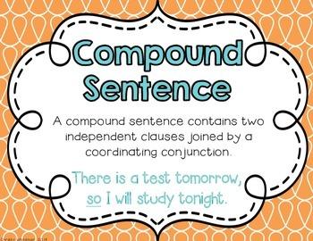 Simple, Compound, & Complex Sentences Poster Pack