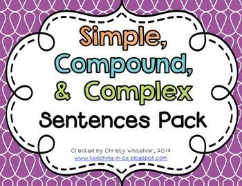Simple, Compound, & Complex Sentences Review Pack