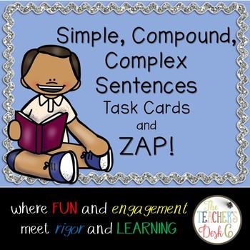 Simple, Compound, Complex Sentences Task Cards