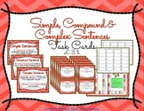 Simple, Compound & Complex Sentences Task Cards L.3.1i