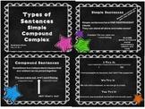 Simple, Compound, Complex Sentences third grade