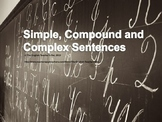 Simple, Compound, Complex and Compound-Complex Sentences PowerPoint