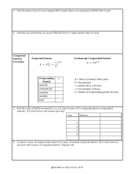 Simple & Compound Interest (High-school Quantitative Reasoning)