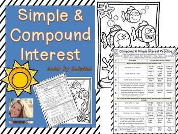 Simple & Compound Interest: Color by Solution