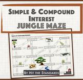 Simple & Compound Interest - Jungle maze math game