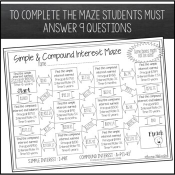 Simple & Compound Interest Maze