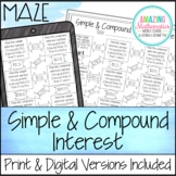 Simple & Compound Interest Maze Worksheet