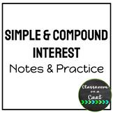 Simple & Compound Interest: Notes & Practice BUNDLE