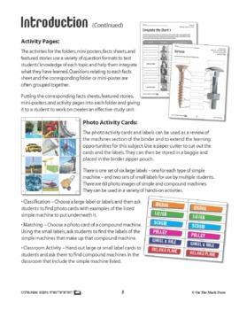 Simple & Compound Machines - 60 Photo Activity Cards & Classification Labels
