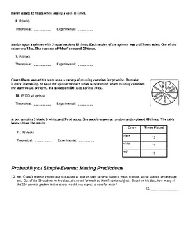 Simple & Compound Probability Worksheet | TpT