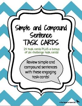 Simple & Compound Sentence Task Cards