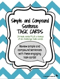 Simple & Compound Sentence Task Cards