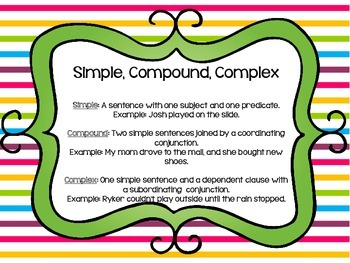 Simple, Compound, and Complex