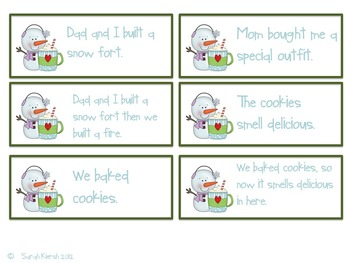 Simple, Compound and Complex Sentence Center Materials
