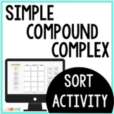 Simple, Compound, and Complex Sentence Sort Activity: Dist