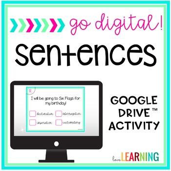 Go Digital: Sentences Task Cards
