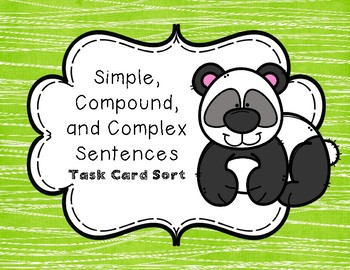 Simple, Compound, and Complex Sentence Sort for TEKS 4.15C, 4.20A, and 4.20C