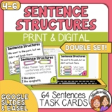 Sentence Structure  Simple Compound and Complex Sentences Task Cards
