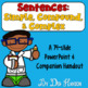 Simple, Compound, and Complex Sentences Bundle of Activities