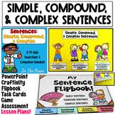 Simple, Compound, and Complex Sentences Bundle