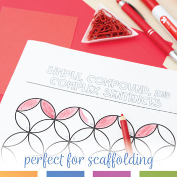 Color By Grammar Simple Compound And Complex Sentences Coloring